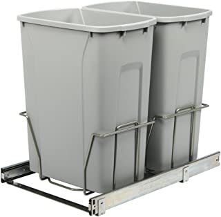 Knape & Vogt PSW15-2-35-R-P in-Cabinet Pull Out Trash Can, 18.4-Inch by 14.25-Inch by 22-Inch