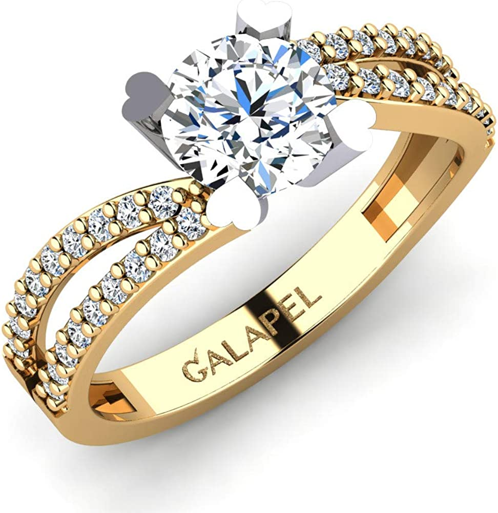 2021 spring and summer new Galapel Max 63% OFF Grazioonia Personalized Ring Women Stacking Wedding for