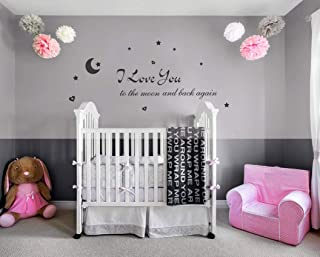 Lchen I Love You to The Moon and Back Again Wall Sticker Decal Home Bathroom Background..