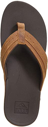Reef Leather Ortho-Spring, Chanclas para Hombre