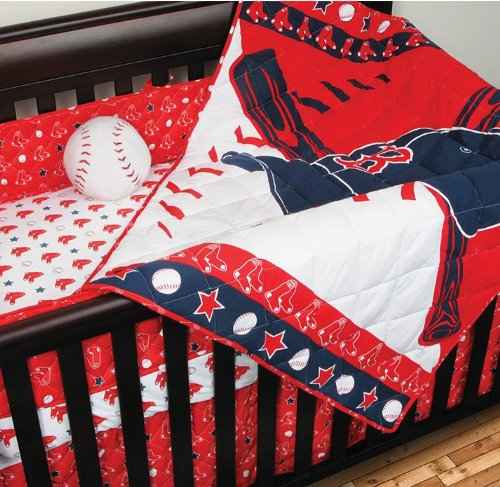 MLB Boston Red Sox Crib Bumper Baseball Bedding Accessory