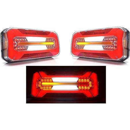 2x Neon Led Kombination Multifunktionale Heckleuchte 12v 24v Lichter Mit Dynamischen Richtungsanzeigern E Markiert Lkw Anhänger Chassis Bus Wohnmobil Van Auto