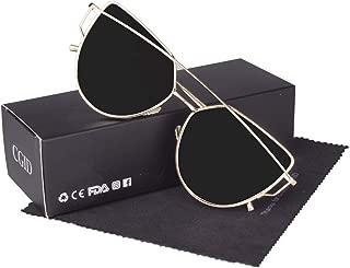 CGID MJ74 Women's Modern Fashion Mirror Polarized Cateye Sunglasses Goggles UV400