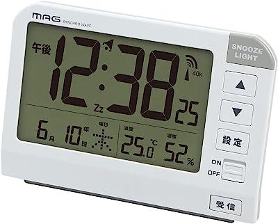 MAG(マグ) 目覚まし時計 電波 デジタル ホーネット スヌーズ機能 バックライト付き ホワイト T-767WH-Z