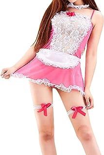 CJDM Vêtements de Nuit Sexy pour Femmes Femme de Chambre Femmes Lingerie Sexy sous-vêtements Sexy Belle Femme Dentelle Noe...
