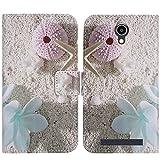 TienJueShi Estrella de mar Funcion de Soporte Funda Caso Carcasa Proteccion Cuero Skin Case Cover Etui para THL T6 T6S T6C T6 Pro 5 Inch