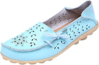 pretty-gentle52654 Women Flats Casual Hole Shoes Nurse with Flat Shoes Women's Driving Shoes