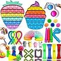 Fidget Toys Pack, 32 Piezas Fidget Toys Pack Barato, Fidget Toy Juguetes Antiestres Niños Adultos Alivio de la ansiedad, Regalos para Niños, Recompensas en El Aula De La Escuela etc. de CY--SHOP