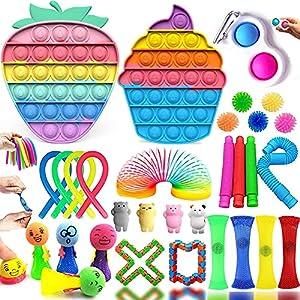 Fidget Toy Set, Fidget Toys Mistery Box per Gadget Compleanno Bambini Regalini Fine Festa Compleanno per Antistress Adulti e Bambini, Fidget Toys Box Fidget Toy Kit per Regali di Feste, Premi etc.