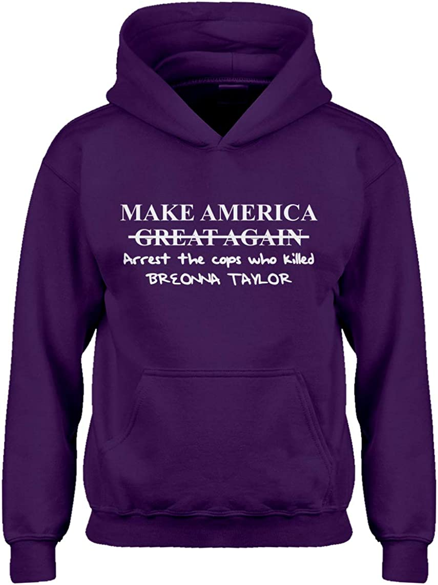 Indica Plateau Make America Arrest The Cops Breonna Taylor Hoodie for Kids