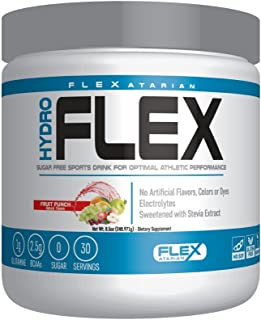 Flexatarian Hydro Flex, Natural Hydration Powder with BCAAs, Fruit Punch, 30 Servings