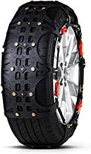 Snow Chain - Beef Tendon Rubber car tire Snow Chain for car Off-Road Vehicles (Size : 20555R16)