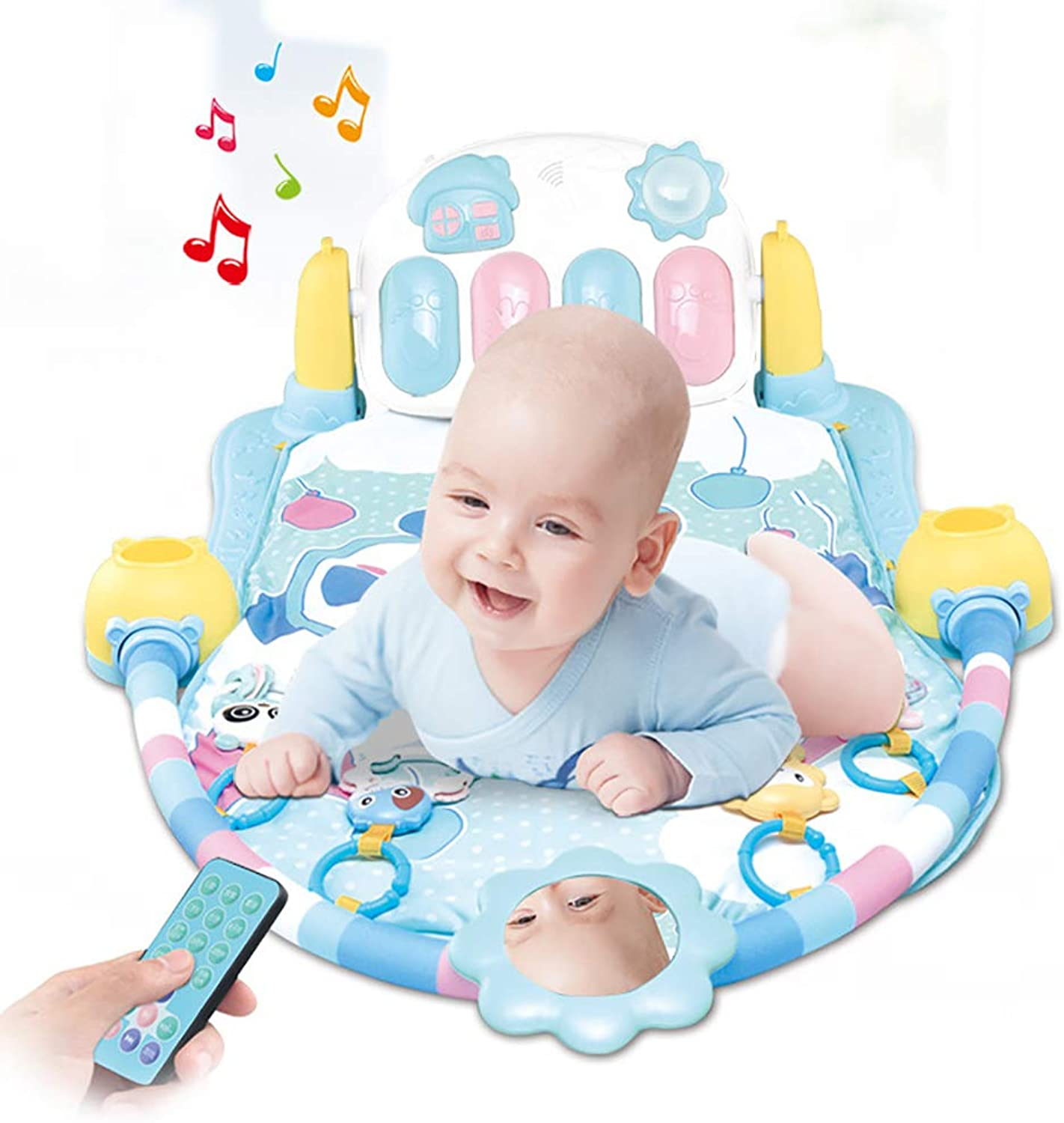 HSRG Baby Play Mat Baby Gym Spielzeug 0-12 Monate Soft Lighting Rattles Musical Toys for Babies Toys Play Piano Gym