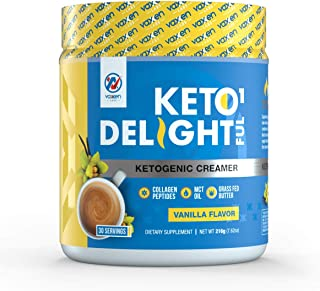 Coffee Keto Creamer (30 Servings) - Grass-Fed Butter, Coconut Oil, MCT Oil & Collagen Peptides - Zero Carbs, 100% Gluten &...