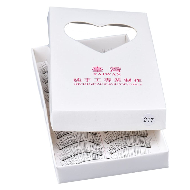 コースなぜならやろう???? Mimoonkaka つけまつげ 10ペア 高品質 つけまつげ 極薄高級繊維 柔らかい 手作り 上まつげ用 デコラティブ アイラッシュ 人気 海外直送品 柔らかい つけまつげ 極薄 3D美容 欧米風 (10ペア, ブラック)