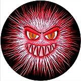 Tappetino antiscivolo antigraffio in feltro per qualsiasi giradischi LP DJ in vinile da 30,5 cm, grafica personalizzata – Fuzzy Monster 1