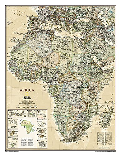 Africa Executive, Laminated: Wall Maps Continents (National Geographic Reference Map)