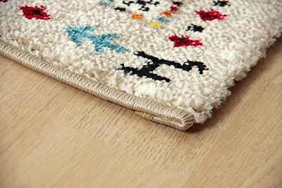 イケヒコ ラグ カーペット トルコ製 ウィルトン織り イビサ ギャッペ調ラグ 約200×250cm アイボリー 抗菌防臭 消臭機能 へたりにくい #2348259