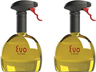 Evo Oil Sprayer Bottle, Non-Aerosol for Olive Oil and Cooking Oils, 18-ounce Capacity, Set of 2