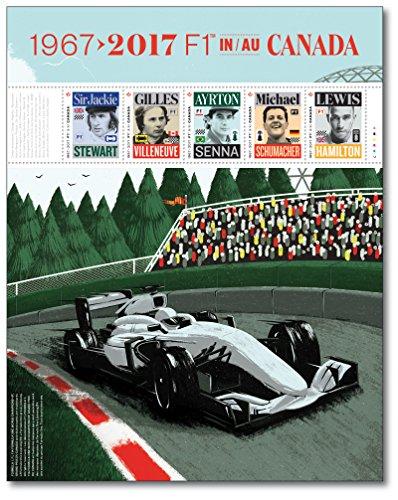 50 Jahre Formel 1-Rennen in Canada |Canada |Briefmarken-Block |postfrisch |Formel 1-Legenden | Weltmeister | Michael Schumacher |Lewis Hamilton