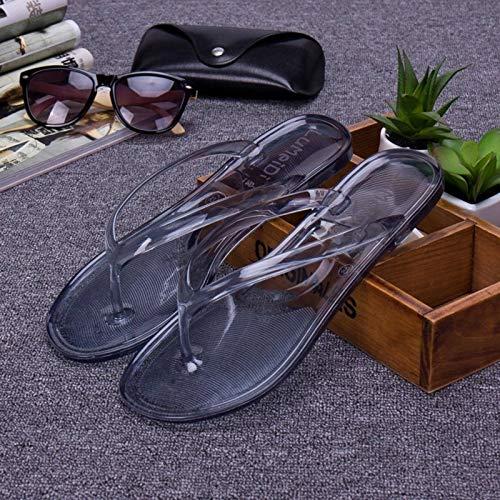 N\C Chanclas para Mujer, Zapatillas de Playa Planas Transparentes, Sandalias para Mujer, Antideslizantes, de Cristal de Verano, Zapatillas de baño Coreanas de plástico