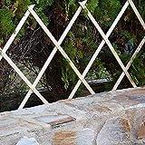 Suinga CELOSIA de MADERA 120 x 180 cm, para jardin y separación de ambientes. Seto artificial extensible.