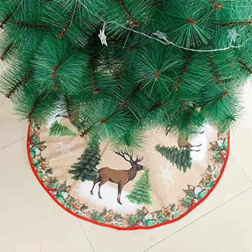 VWsiouev Weihnachtsbaum-Decke, 99,1 cm Durchmesser, neues Muster, Schneeflocke, gestrickt, Baumrock, große Matte für Weihnachtsjahr, Party, Weihnachtsdekoration, Requisiten, Heimdekorationen (C)