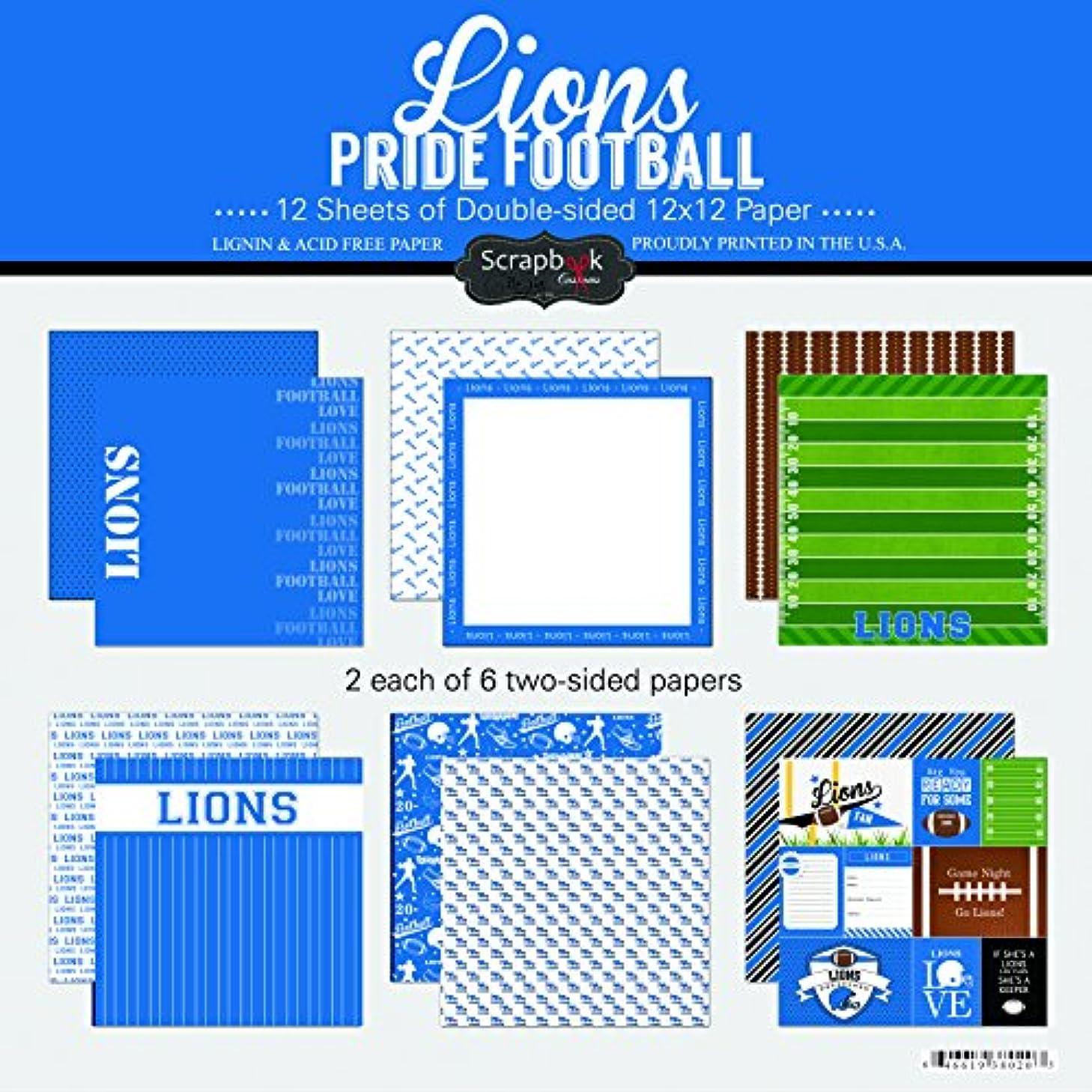 Scrapbook Customs Lions Pride Football Scrapbook Kit