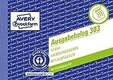 AVERY Zweckform 303 Ausgabebeleg mit Dokumentendruck (A6 quer, von Rechtsexperten geprüft, für Deutschland zur ordnungsgemäßen, kostengünstigen Buchführung, 50 Blatt) gelb