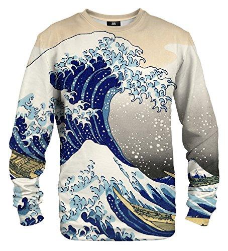 Mr. Gugu & Miss Go Herren Damen Bedrucktes Sweatshirt Kanagawa Wave (XXL)