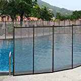 Giantex Pool Fence for In-Ground Easy DIY Installation Pool Barrier Safety Mesh Fence 4FootX48Foot Swimming Pool Fence, Black