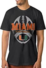 ElishaJ Men's University Of Miami Fashion Cotton Tshirt Black