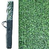 Pal ferretería industrial rollo de seto artificial ignífugo verde de ocultación 3x1m