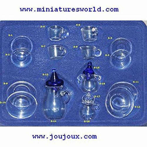 Miniatures World - Glazen servies voor miniatuurdecors en poppenhuizen in schaal 1:12