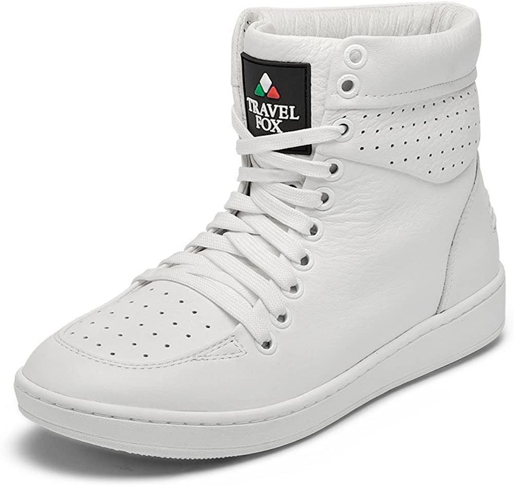 TRAVEL Max 90% OFF FOX Unisex 900 Nappa High-Tops shopping Leather Round Lace-Up Toe