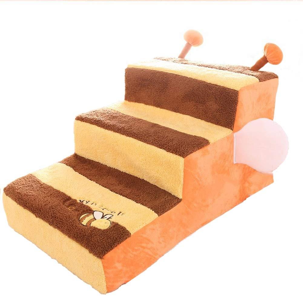 WYDM 3 Pasos para Perros Escaleras Cama para Mascotas Paso Desmontable y Lavable Cubierta Antideslizante Parte Inferior 65 × 40 × 35 cm (Color: Amazon.es: Hogar