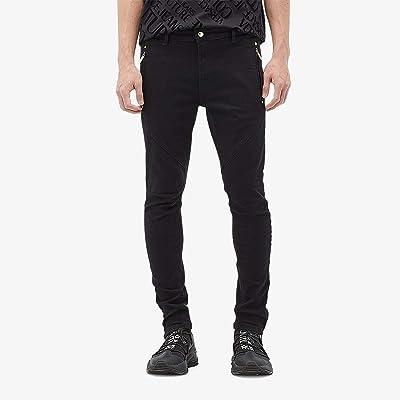 Versace Jeans Couture Moto Skinny Fit Biker Jeans (Black) Men