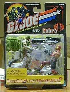 GI JOE vs. COBRA Heavy Duty (Grey/Green Uniform) vs. Cobra C.L.A.W.S. Claws (Maroon/Tan Uniform) Action Figure Set
