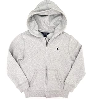 Little Boys' Solid Hooded Zippered Sweatshirt Jacket (4, Lite Sport Heather)