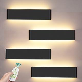 24W Applique Murale Interieur Avec télécommande 4 Pack Smart Applique Murale LED 3000-6000K Température de couleur et lumi...