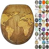 Sedile WC, grande scelta di belli sedili WC da legno robusto e di alta qualità (Mappamond...