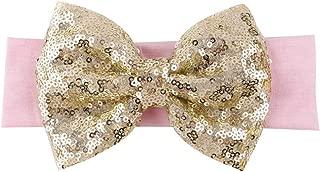 BAOBAO Kid Girl Glitter Sequined Bow Hairband Turban Knot Hair Band Headband