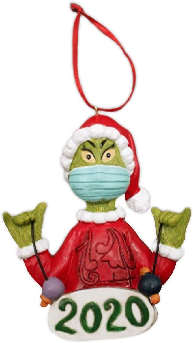 Navidad Grinch colgante de resina Mini adornos colgantes Personaje de dibujos animados /Árbol de Navidad Decoraciones navide/ñas