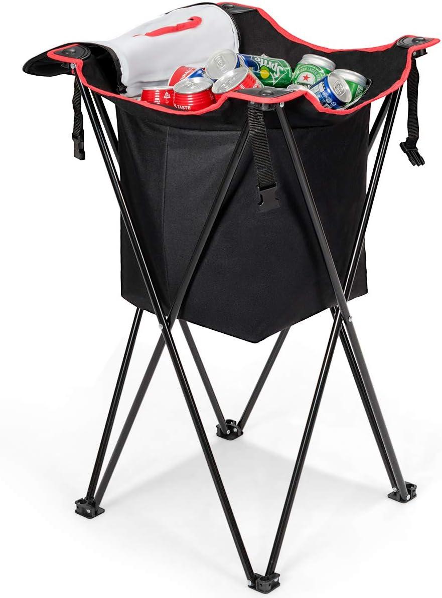 Goplus Folding Over item handling Standing Nippon regular agency Ice Cooler Campi Insulated Bag Portable