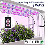 MIXC 4 Pack LED Strips Light Bar with Timer Auto Turn...