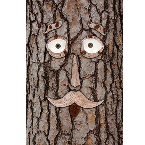 Hilarious Home 6-Piece Tree Face Set Whimsical Outdoor Garden Decoration
