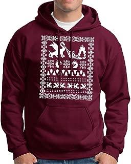 Ugly Christmas Sweater with Dragons Premium Hoodie Sweatshirt
