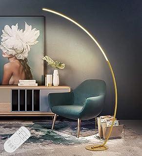 Lampadaire LED Arc, Lampadaire sur Pied LED Dimmable avec Télécommande, Lampe de Stand Design Arche Moderne, Sans Scintill...