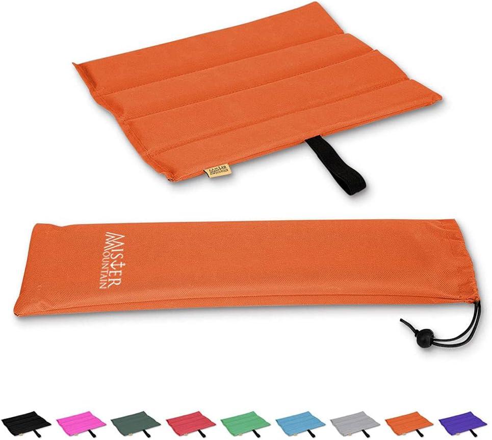 Mister Mountain® Outdoor Iso-Sitzkissen 31x35x1,2cm Leicht Faltbar & Waschbar. Thermokissen, Sitzmatte Inklusive Tasche. Sitzkissen mit Schutz vor…