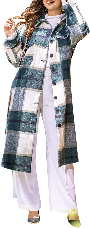 Women's Lounge Regular store Long Sleeve Button Cardigan Up High quality Plaid Lape Fashion
